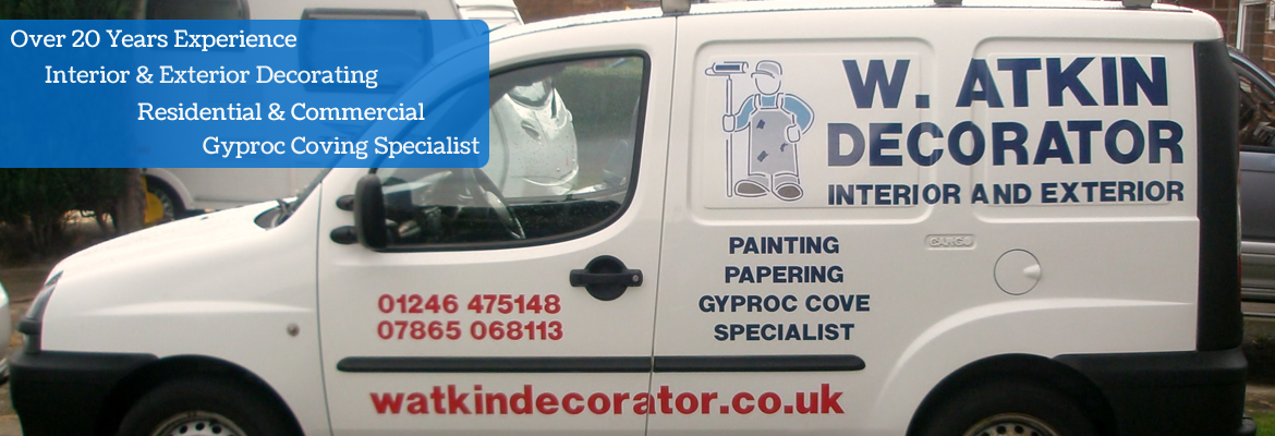 W Atkin Decorators Van