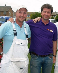 Nick Knowles and Wayne Atkin