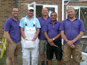 The DIY SOS Team with Wayne Atkin