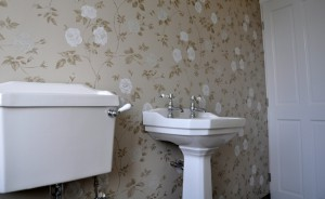 Wallpapering in Bathrooms